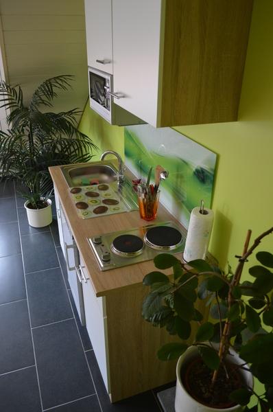 Einzelzimmer,TV, Pantryküche,Kühlschrank,Mikrowelle, Kochfeld.  Gemeinschaftsbad Mit Zimmer 1